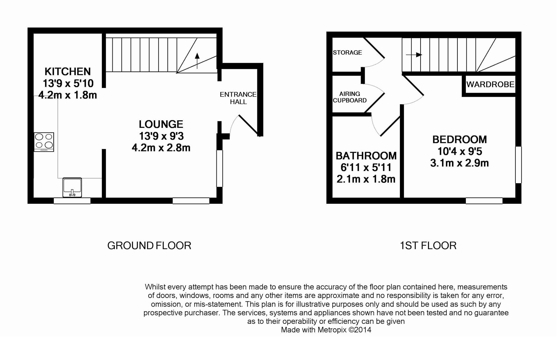 Floorplan for Sloughbrook Close, Horsham